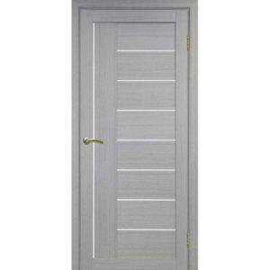 Межкомнатная дверь Optima Porte Турин 524 (дуб серый, остеклённая)