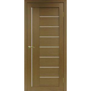Межкомнатная дверь Optima Porte Турин 524 (орех, остеклённая)