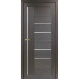 Межкомнатная дверь Optima Porte Турин 524 (венге, остеклённая)