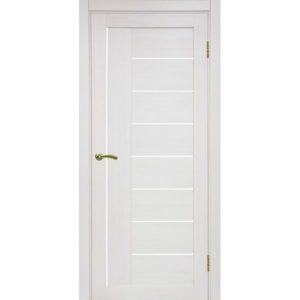Межкомнатная дверь Optima Porte Турин 524 (ясень перламутровый, остеклённая)