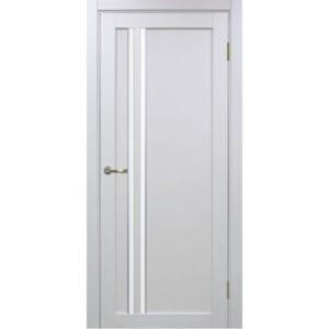 Межкомнатная дверь Optima Porte Турин 525 (АПС молдинг SC, белый монохром, остеклённая)