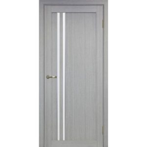Межкомнатная дверь Optima Porte Турин 525 (АПС молдинг SC, дуб серый, остеклённая)