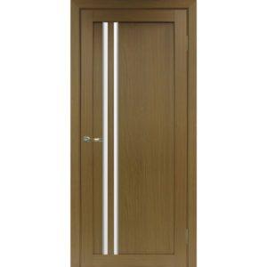 Межкомнатная дверь Optima Porte Турин 525 (АПС молдинг SC, орех, остеклённая)