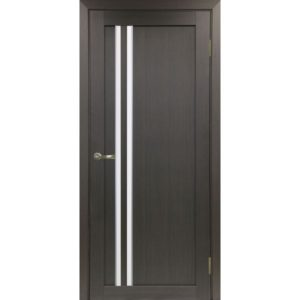 Межкомнатная дверь Optima Porte Турин 525 (АПС молдинг SC, венге, остеклённая)