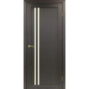 Межкомнатная дверь Optima Porte Турин 525 (АПС молдинг SG, венге, остеклённая)