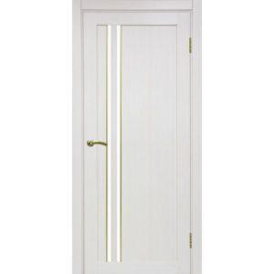 Межкомнатная дверь Optima Porte Турин 525 (АПС молдинг SG, ясень перламутровый, остеклённая)