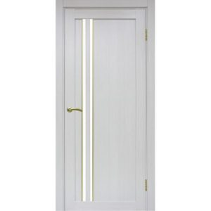 Межкомнатная дверь Optima Porte Турин 525 (АПС молдинг SG, ясень серебристый, остеклённая)