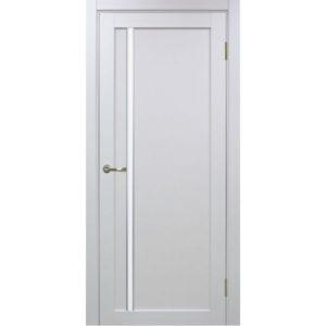 Межкомнатная дверь Optima Porte Турин 527 (АПС молдинг SC, белый монохром, остеклённая)