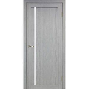Межкомнатная дверь Optima Porte Турин 527 (АПС молдинг SC, дуб серый, остеклённая)