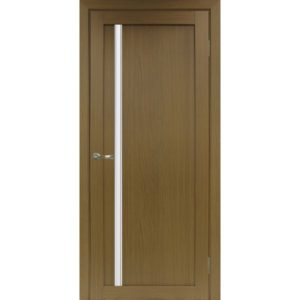 Межкомнатная дверь Optima Porte Турин 527 (АПС молдинг SC, орех, остеклённая)