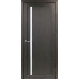 Межкомнатная дверь Optima Porte Турин 527 (АПС молдинг SC, венге, остеклённая)