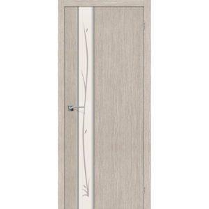 Межкомнатная дверь Глейс-1 (Twig, 3D Cappuccino, остеклённая)