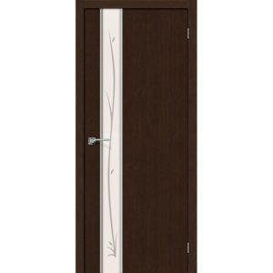 Межкомнатная дверь Глейс-1 (Twig, 3D Wenge, остеклённая)