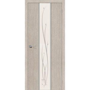 Межкомнатная дверь Глейс-2 (Twig, 3D Cappuccino, остеклённая)