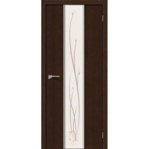 Межкомнатная дверь Глейс-2 (Twig, 3D Wenge, остеклённая)