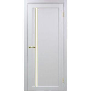 Межкомнатная дверь Optima Porte Турин 527 (АПС молдинг SG, белый монохром, остеклённая)