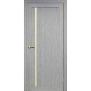Межкомнатная дверь Optima Porte Турин 527 (АПС молдинг SG, дуб серый, остеклённая)