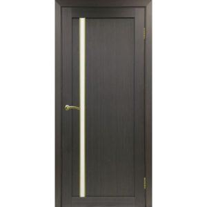 Межкомнатная дверь Optima Porte Турин 527 (АПС молдинг SG, венге, остеклённая)
