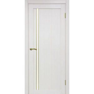 Межкомнатная дверь Optima Porte Турин 527 (АПС молдинг SG, ясень перламутровый, остеклённая)
