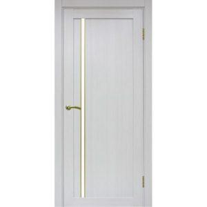 Межкомнатная дверь Optima Porte Турин 527 (АПС молдинг SG, ясень серебристый, остеклённая)