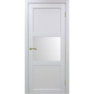 Межкомнатная дверь Optima Porte Турин 530.121 (белый монохром, остеклённая)