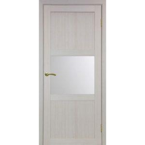 Межкомнатная дверь Optima Porte Турин 530.121 (дуб белёный, остеклённая)