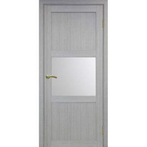 Межкомнатная дверь Optima Porte Турин 530.121 (дуб серый, остеклённая)