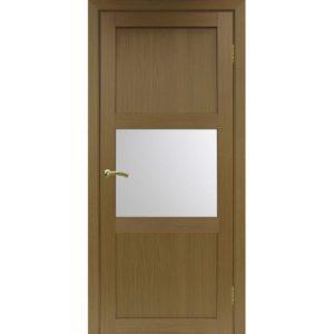 Межкомнатная дверь Optima Porte Турин 530.121 (орех, остеклённая)
