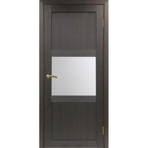 Межкомнатная дверь Optima Porte Турин 530.121 (венге, остеклённая)