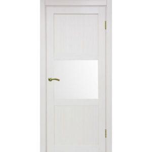 Межкомнатная дверь Optima Porte Турин 530.121 (ясень перламутровый, остеклённая)
