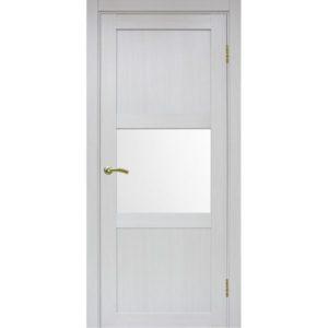 Межкомнатная дверь Optima Porte Турин 530.121 (ясень серебристый, остеклённая)