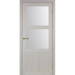 Межкомнатная дверь Optima Porte Турин 530.221 (дуб белёный, остеклённая)