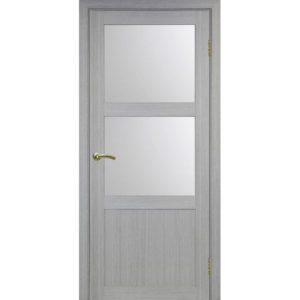 Межкомнатная дверь Optima Porte Турин 530.221 (дуб серый, остеклённая)