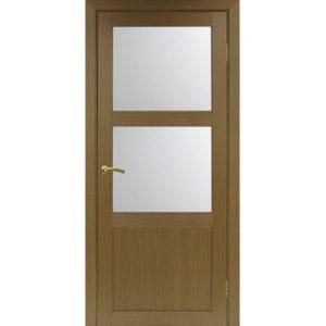 Межкомнатная дверь Optima Porte Турин 530.221 (орех, остеклённая)