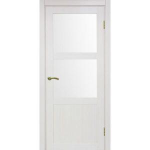Межкомнатная дверь Optima Porte Турин 530.221 (ясень перламутровый, остеклённая)