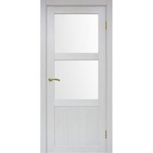 Межкомнатная дверь Optima Porte Турин 530.221 (ясень серебристый, остеклённая)