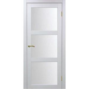 Межкомнатная дверь Optima Porte Турин 530.222 (белый монохром, остеклённая)