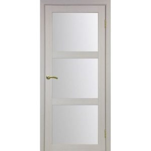 Межкомнатная дверь Optima Porte Турин 530.222 (дуб белёный, остеклённая)