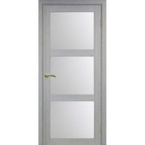 Межкомнатная дверь Optima Porte Турин 530.222 (дуб серый, остеклённая)