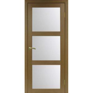 Межкомнатная дверь Optima Porte Турин 530.222 (орех, остеклённая)
