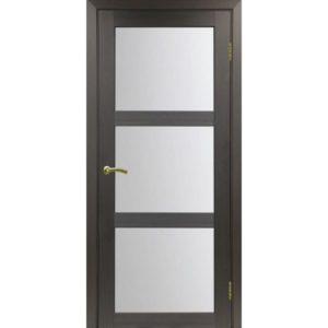 Межкомнатная дверь Optima Porte Турин 530.222 (венге, остеклённая)
