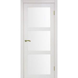 Межкомнатная дверь Optima Porte Турин 530.222 (ясень перламутровый, остеклённая)