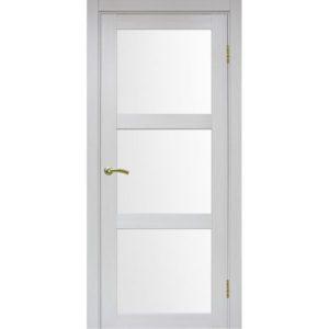 Межкомнатная дверь Optima Porte Турин 530.222 (ясень серебристый, остеклённая)