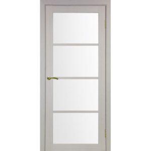 Межкомнатная дверь Optima Porte Турин 540.2222 (дуб белёный, остеклённая)