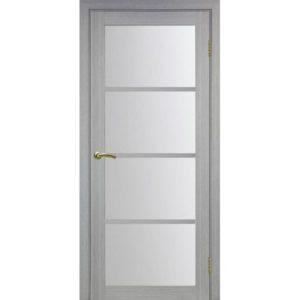 Межкомнатная дверь Optima Porte Турин 540.2222 (дуб серый, остеклённая)