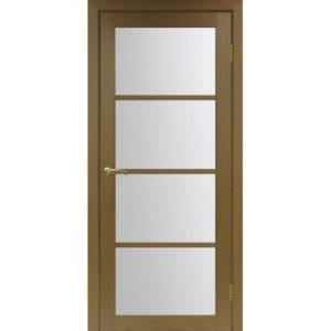 Межкомнатная дверь Optima Porte Турин 540.2222 (орех, остеклённая)