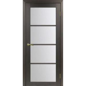 Межкомнатная дверь Optima Porte Турин 540.2222 (венге, остеклённая)