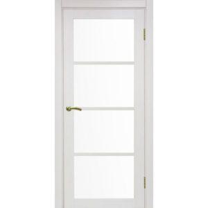 Межкомнатная дверь Optima Porte Турин 540.2222 (ясень перламутровый, остеклённая)