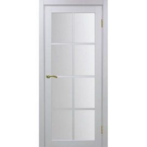 Межкомнатная дверь Optima Porte Турин 541.2222 (белый монохром, остеклённая)