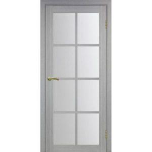 Межкомнатная дверь Optima Porte Турин 541.2222 (дуб серый, остеклённая)